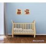 tableau enfant bébé ours beige marron chocolat 5