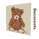 tableau enfant bébé ours beige marron chocolat 4