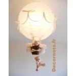 lampe montgolfière beige 2