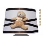 lampe de chevet ours marron chocolat 1