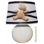 lampe de chevet ours marron chocolat