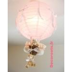lampe montgolfière rose bébé
