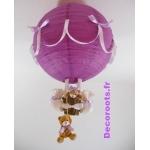 lampe montgolfière violet