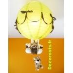 lampe montgolfière tigre chocolat allumée