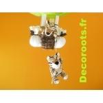 lampe montgolfière tigre chocolat zoom