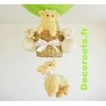 lampe montgolfière mouton animaux de la ferme zoom