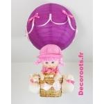 lampe montgolfière fille poupée