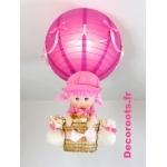 lampe montgolfière fille poupée allumée