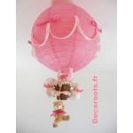 lampe montgolfière rose enfant