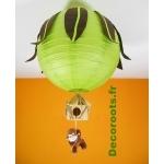 lustre jungle vert anis marron chocolat singe 3