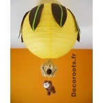 lustre jungle singe jaune marron chocolat