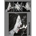 tableau deco design contemporain noir blanc colère sept pêchés capitaux 3