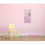 toise-enfant-bebe-fille-envol-de-papillons-collection-les-fees-papillons-rose-violet-parme-fuschia-decoration