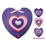 porte manteau coeur rose violet prune décoration murale tableau 2