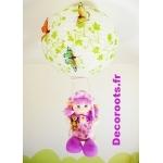 lustre suspension poupée balançoire papillon nature violet jaune orange vert