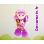 lustre suspension poupée balançoire papillon nature violet jaune orange vert zoom