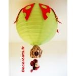 lustre enfant bébé nature coccinelle vert et rouge