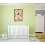 tableau déco enfant bébé ours beige