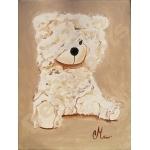 tableau déco enfant bébé ours beige AF
