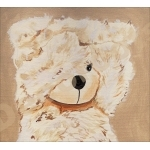 tableau déco enfant bébé ours beige zoom