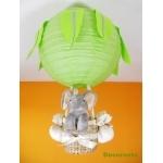lampe montgolfière jungle éléphant vert gris