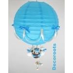 lampe montgolfière bleu et beige polaire
