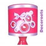 lampe de chevet enfant bébé fille fuschia mauve parme violet framboise zoom