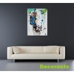tableau déco design femme tache peinture multicolore papillon nue printemps salon 2