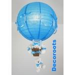lampe montgolfière ours allumée