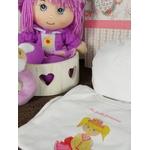 coffret cadeau naissance fille rose et violet hochet zoom