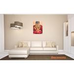 tableau déco zen bouddha orange grand format