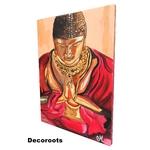 tableau déco zen bouddha rouge orange marron décoration