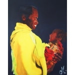 tableau éthnique père et son fils