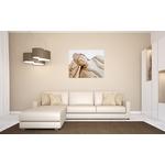 tableau bouddha zen grand format beige blanc taupe décoration