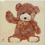 tableau enfant bébé ours beige marron chocolat AF