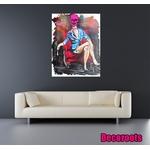tableau design pop crane femme glamour 3