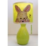 lampe de chevet enfant bébé lapin allumée forêt décoration