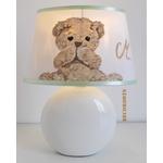 lampe de chevet ours peluche beige blanc décoration