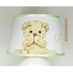 lampe de chevet ours peluche beige blanc zoom