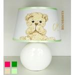 lampe de chevet ours peluche beige blanc2