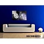 tableau design tête femme à lenvers espace cosmos galaxie étoile décoration contemporaine