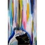 tableau art femme couleur design contemporain artiste