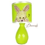 lampe de chevet enfant bébé lapin vert anis