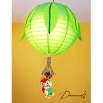 lampe lustre abat-jour enfant bébé jungle perroquet vert anis décoration