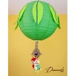 lampe lustre abat-jour enfant bébé jungle perroquet vert anis