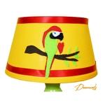 lampe de chevet enfant bébé décoration jungle perroquet vert anis orange rouge 2