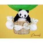 lampe montgolfière lustre enfant bébé panda vert anis bambou décoration