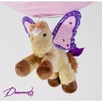 lampe montgolfière enfant suspension abat-jour rose violet parme cheval licorne poney ailé zoom