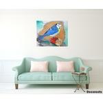 tableau art artiste contemporain peinture design nature mésange oiseau 3