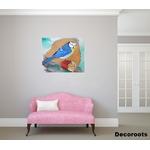tableau art artiste contemporain peinture design nature mésange oiseau salon